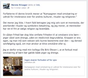 Merete Riisager - omskæring