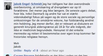 Jacon Engel-Schmidt omskæring