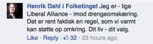Fra siden Henrik Dahl i folketinget d. 29.9.2014