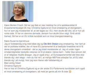 Christina Egelund, Liberal Alliance