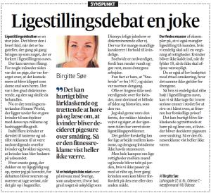 Birgitte Søe Ligestiling og omskæring