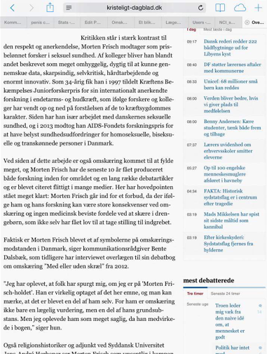 Omskæringsdebat i Kristeligt Dagblad